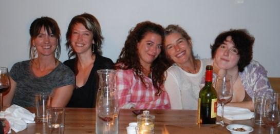 Me, Bronwen, Kathy, Jane, Meisha (left to right)