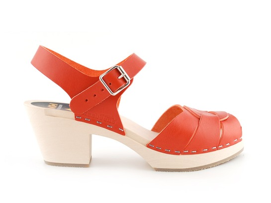 Swedish Hasbeens, Peep Toe, Color Orange
