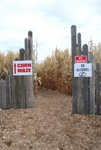 Corn Maze Entrance in Walla Walla Washington...Like I Promised!