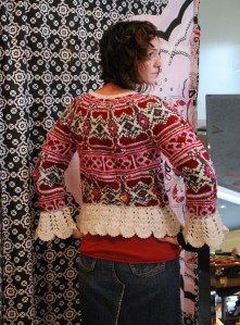 Odd Molly #75 Afterafterski Sweater, Chalk Back