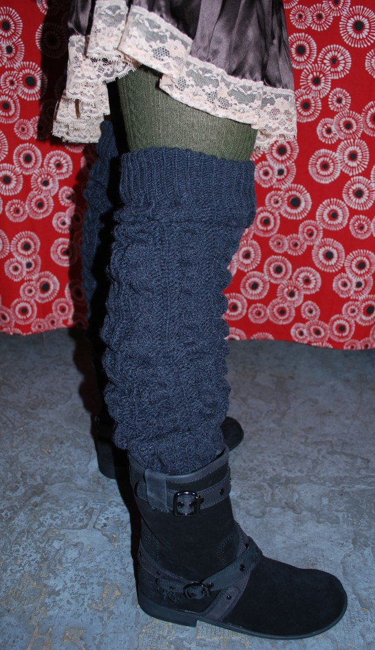 New OBTB Merced Boot ($159) and Cable Knit Legwarmers ($43)